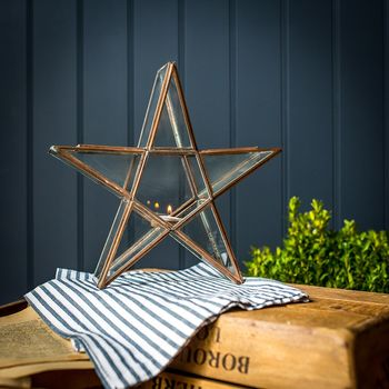 NOT ON THE HIGH STREET Copper Star Lantern £35