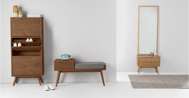 Midcentury modern boho telephone storage seat retro furniture