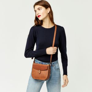 Tan Faux Leather Cross Over Body Bag Winter 2017