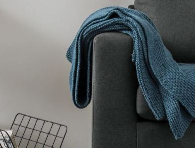 Blue Knitted Throw £29