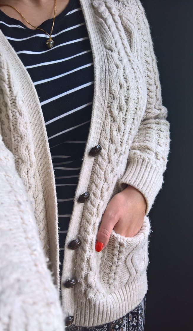 Cable Knit Cardigan 2017