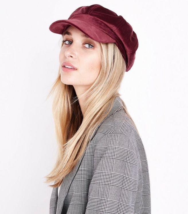 burgundy-velvet-baker-boy-hat